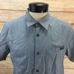 New Oakley Button Front Shirt SS M